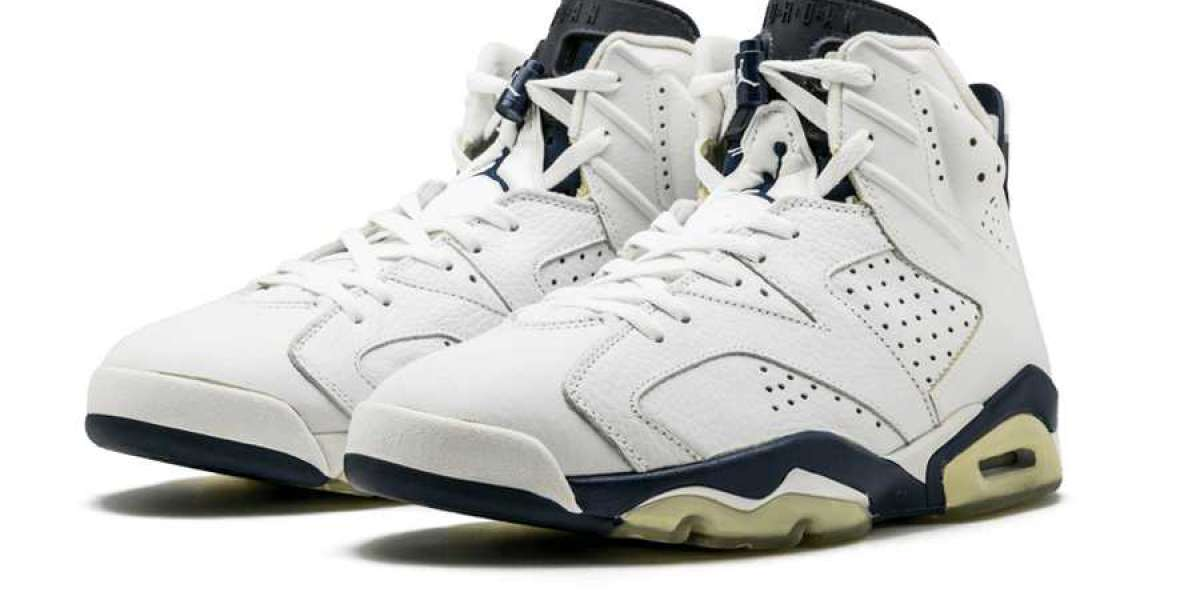 """The Air Jordan 6 """"Midnight Navy"""" CT8529-141 Basketball Sneakers For Sale"""
