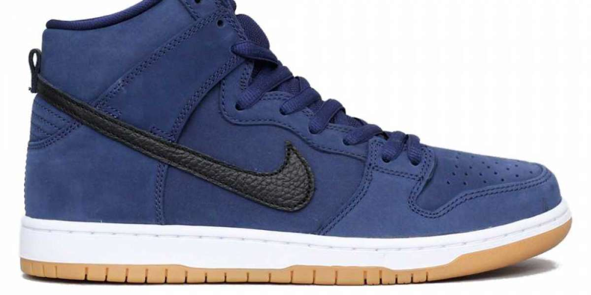 CI2692-401 Nike Dunk High Pro ISO Navy Blue/Black-White Cheap For Sale