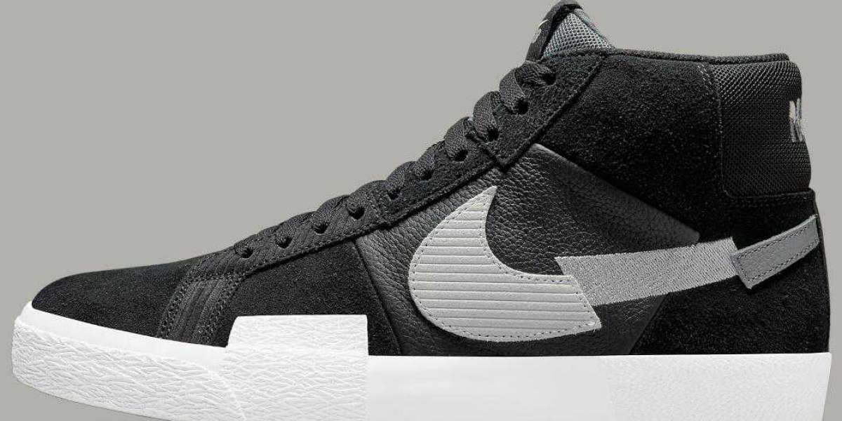 Newest Nike SB Blazer Mid Mosaic Releasing In Classic Black And Grey
