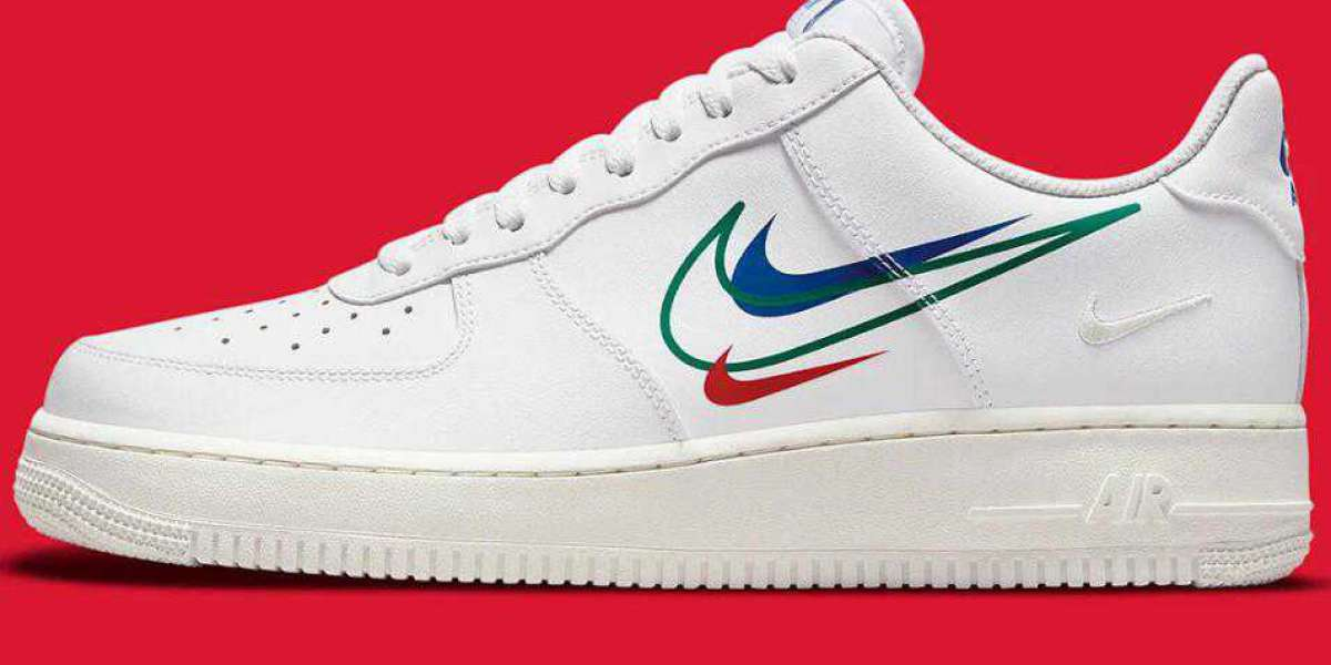 New Air Force 1 White Dropping With Quadruple Swooshes
